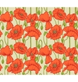 Big seamless pattern of red poppies vector image vector image