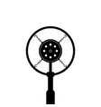 black retro microphone on white background vector image vector image