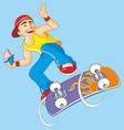 boy on a skateboard vector image vector image