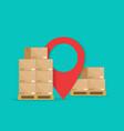 cargo logistic carton boxes on pallet vector image