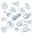 cartoon items for clean up vector image vector image