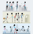 characters in different situations vector image vector image