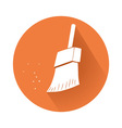 cleaning brush symbol vector image vector image