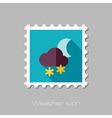 Cloud Snow Moon flat stamp Meteorology Weather vector image vector image