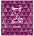 Cocktail vintage mosaic pattern vector image vector image