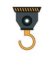 color silhouette cartoon industrial crane hook vector image vector image