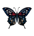 Colored butterfly logo vector image vector image