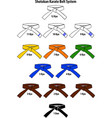 colored karate belts vector image