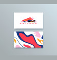 colorful mountain logo template buisness vector image