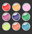 colorful paper vintage stickers collection vector image vector image
