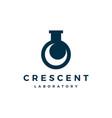 crescent moon laboratory labs logo icon vector image
