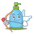 cupid liquid soap character cartoon vector image