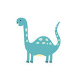 cute dinosaur in cartoon style dino isolated vector image vector image