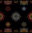 dark bright background cross stitch vector image vector image