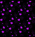 dark purple pink seamless layout with sweet vector image vector image
