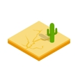 Desert cactus landscape icon isometric 3d style vector image vector image