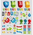Design elements tags stickers ribbons vector image vector image