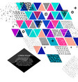 different colored triangles vector image vector image
