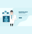 doctor holding x-ray film health check up banner vector image vector image