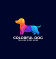 dog colorful design concept template vector image vector image