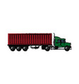 drawing truck container shipping cargo vector image vector image