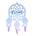 dream catcher with calligraphy sign vector image