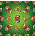 Easter seamless green pattern with painted eggs vector image vector image