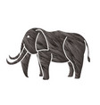 elephant cartoon graphic vector image vector image