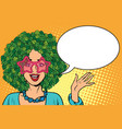environmentalist woman with hair in a forest vector image vector image