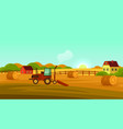 farm land or countryside landscape banner vector image