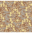 Floral pattern in vintage style vector image vector image