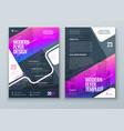 flyer design purple modern flyer background vector image