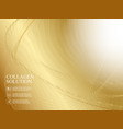 golden abstaraction with lines waves and vector image vector image