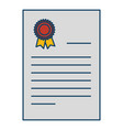 graduation diploma isolated icon vector image