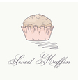 Hand drawn muffin vector image vector image