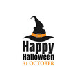 happy halloween text lettering banner or label vector image vector image