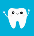 healthy tooth icon smiling head face beautiful vector image
