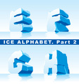 Ice alphabet part 2 vector | Price: 1 Credit (USD $1)