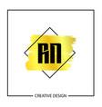 initial letter rn logo template design vector image