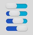 interface slider blue bar on gray background vector image