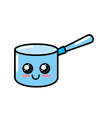 kawaii cute happy pot utensil vector image vector image