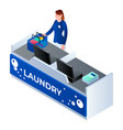 laundry cashier woman icon isometric style vector image vector image