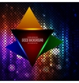 Lighten triangle on the disco colored abstraction vector image