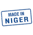 made in Niger blue square isolated stamp vector image vector image