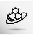 Natural components icon molecule vector image