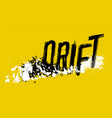 off road drift image vector image