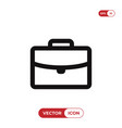 office briefcase icon vector image vector image
