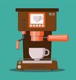 office coffee machine in flat vector image vector image
