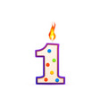 one year anniversary 1 number shaped birthday vector image vector image
