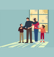 protect your family from covid-19 pandemic vector image